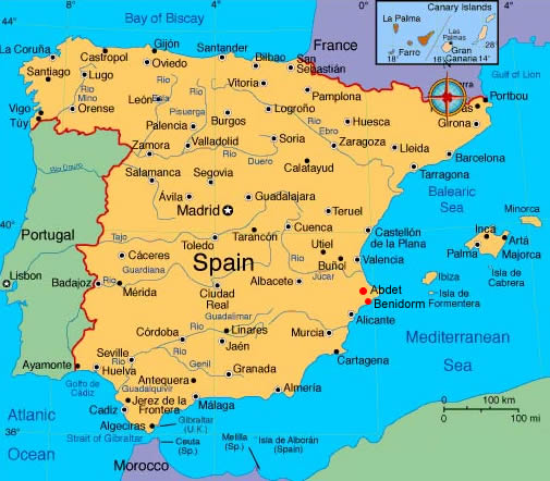 Travel Maps and Plans of Andalusia and Spain Spain Travel Maps