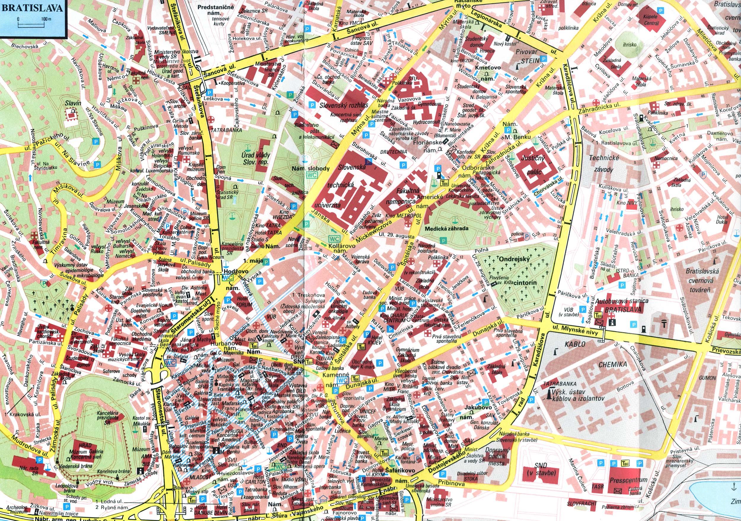 Travel to Bratislava Travel Maps to Bratislava Slovakia