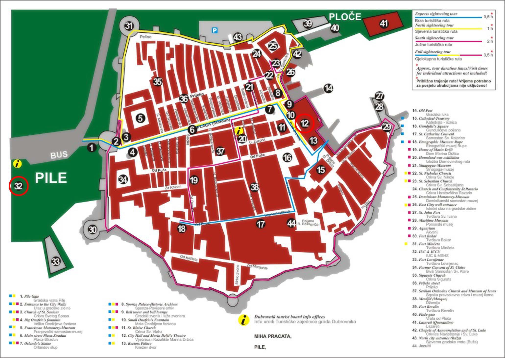 Travel to Dubrovnik - Maps and Plans of Dubrovnik and Dalmatia
